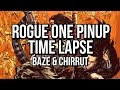 Star Wars Rogue One pinup - time-lapse Photoshop digital comic coloring