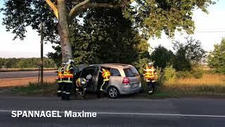 Accident avec désincarcération Route de Colmar à Ruelisheim