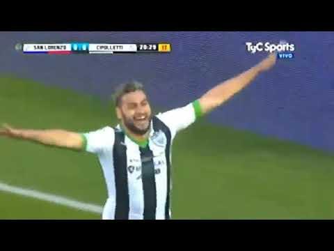San Lorenzo 1 (4-2) Cipolletti 1 goles y penales copa total Argentina 2017