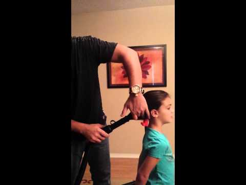 Perfect Ponytail Dad Fixes Daughters Hair.