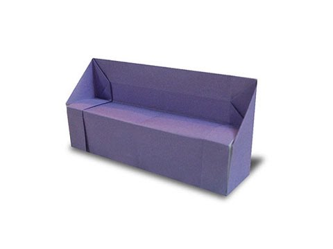 Cách gấp, xếp cái ghế sofa bằng giấy origami - Video hướng dẫn