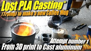 Lost PLA Casting: First Try at Casting 3D Printed Parts in Aluminum at Home.
