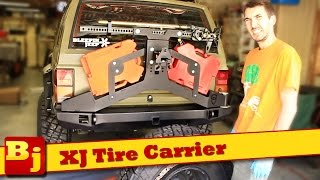 XJ Rear Tire Carrier Install - JcrOffroad