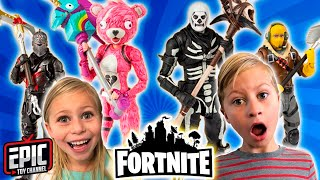 FORTNITE Toy Haul with New Fortnite Action Figures with new Exclusive Surprise Toys