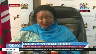 INEOS 1.59 challenge: CS Amina's statement to Eliud Kipchoge