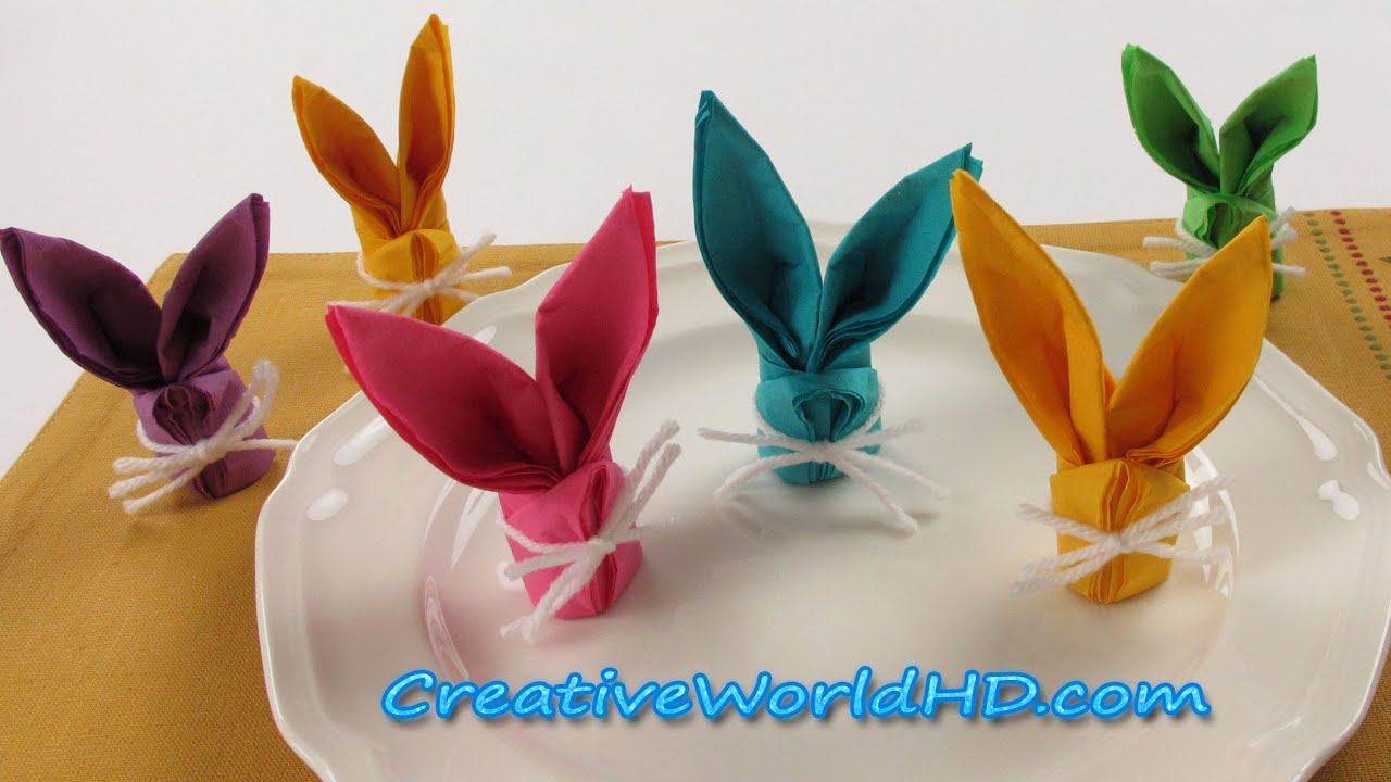Diy Paper Crafts Bunny Rabbit Napkins Folding How To