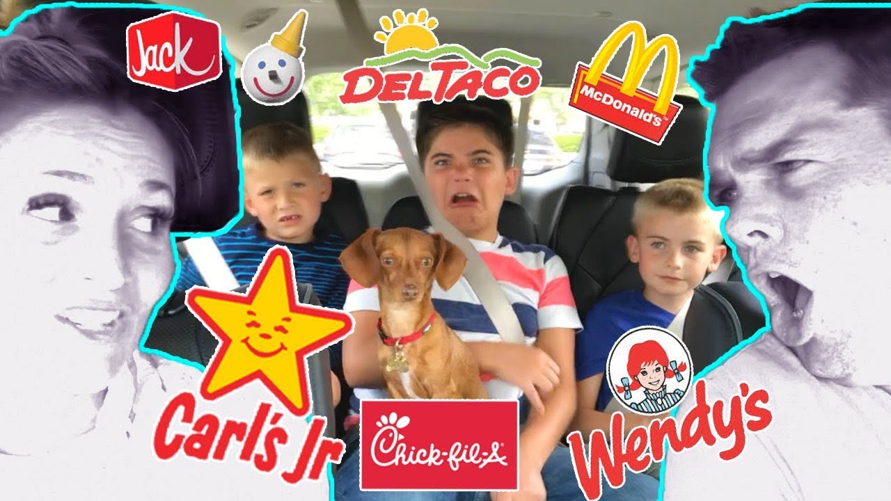 DRIVE THRU CHALLENGE! We Order What the Car in Front Ordered By HobbyKidsTV