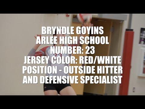 Bryndle Goyins 2016 Arlee High School Volleyball