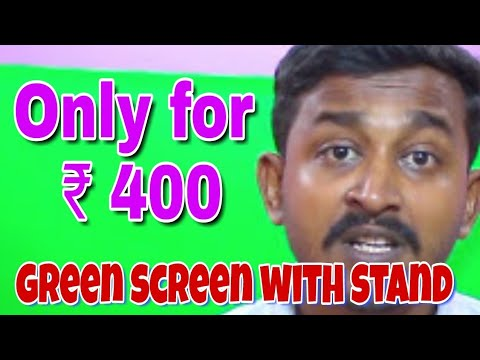 how-to-make-green-screen-with-stand-only-rs-400 -home-diy-green-screen-hindi-me