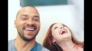 Grey's Anatomy's Jesse Williams & Sarah Drew Answer Fans on Facebook