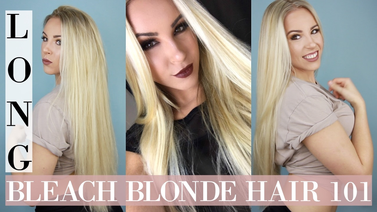 Bleach Blonde Hair 101: Grow Long, Healthy, Thick, Color Treated ...