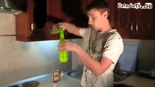 Фонарик из бутылки. Круто!))