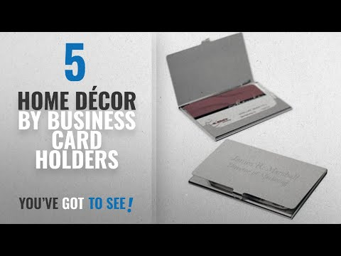 Top 10 Home Décor By Business Card Holders [ Winter 2018 ]: Business Card Holder Free Engraving