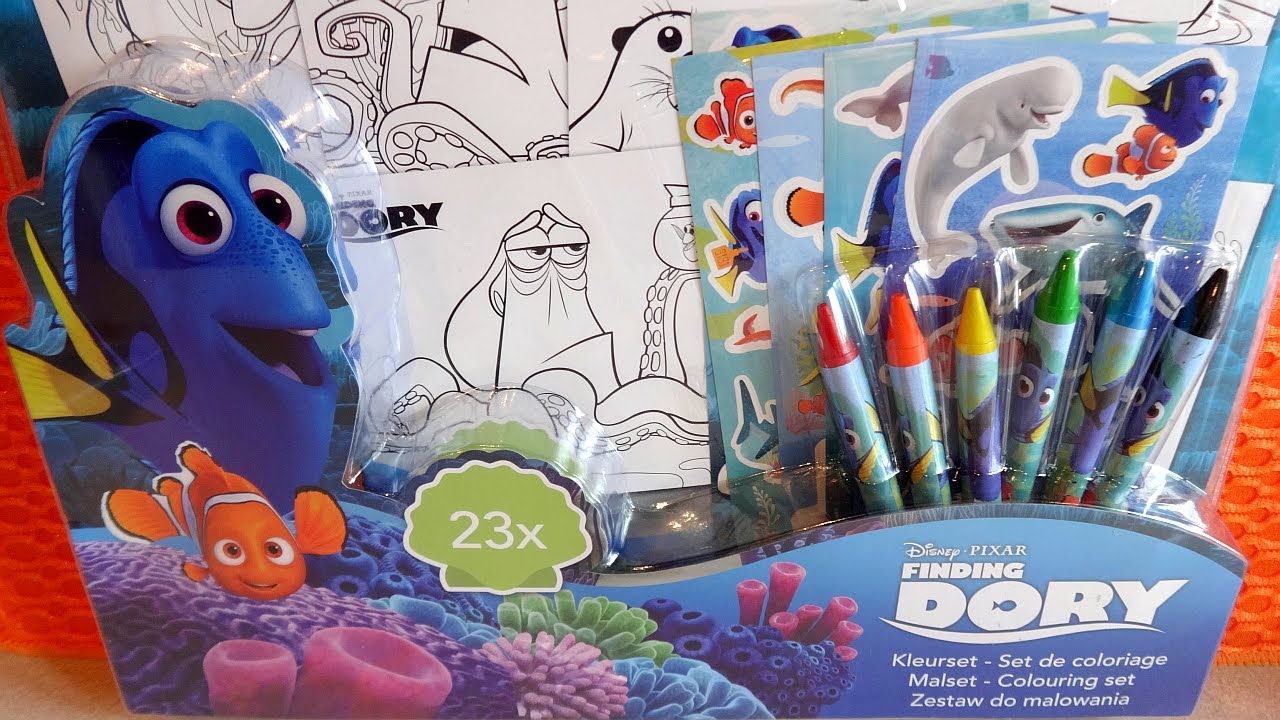 2016 Finding Dory Disney Pixar Movie Colouring Set With Stickers