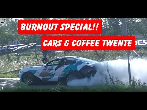 The Best Supercar Burn-outs And Drifts @ Cars And Coffee Twente!!