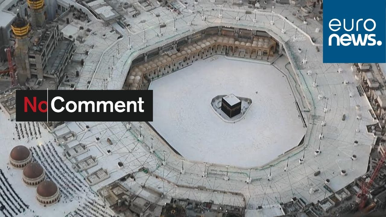 Images Of Empty Space Surrounding The Kaaba In Mecca S Grand Mosque Youtube
