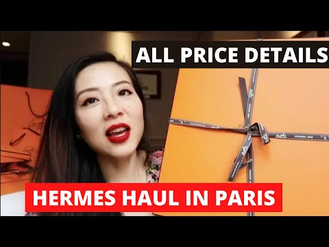 Hermes shopping haul with pricing details in Paris || Hermes Birkin unboxing || 爱马仕铂金包开箱 || 铂金包欧洲价格