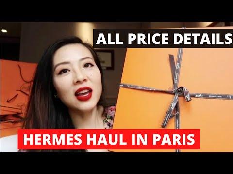 Hermes shopping haul with pricing details in Paris || Hermes Birkin unboxing || 爱马仕铂金包开箱 || 铂金包欧洲价格