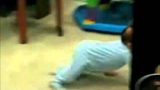 Children walking funny طفل مضحك