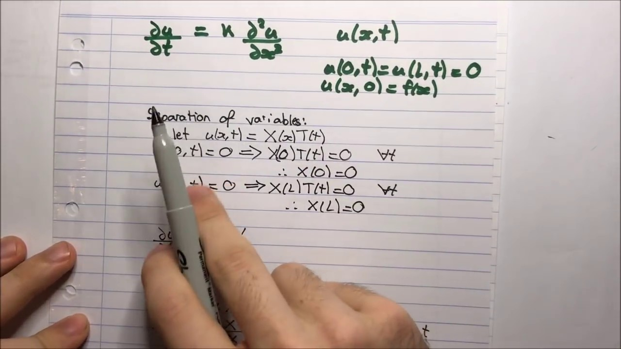 PDE: Heat Equation - Separation of Variables