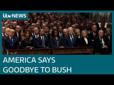 World leaders gather to pay respects to George HW Bush | ITV News