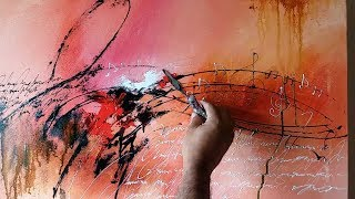 """Abstract painting / """"Love Songs"""" in Acrylics / Demonstration"""