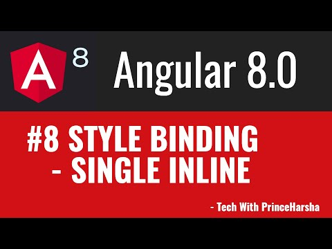 8.Angular 8 Tutorials - single inline style binding thumbnail