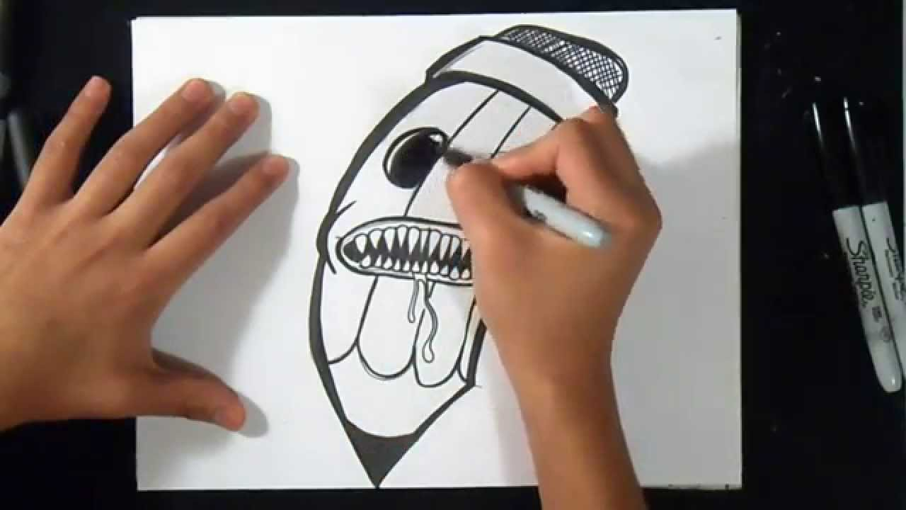 Come disegnare matita graffiti youtube for Disegni da copiare a matita