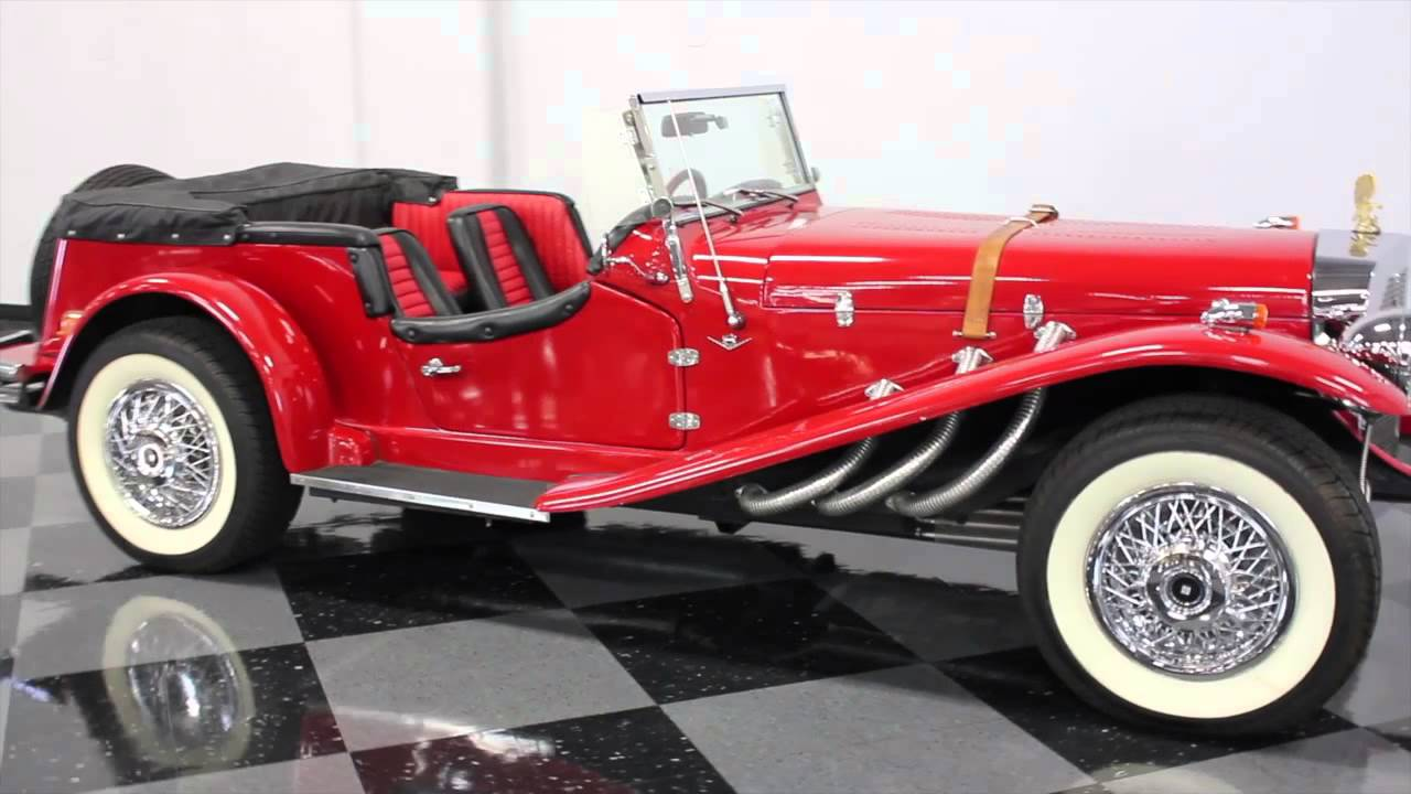 487 DFW 1929 Mercedes-Benz SSK Replica - YouTube