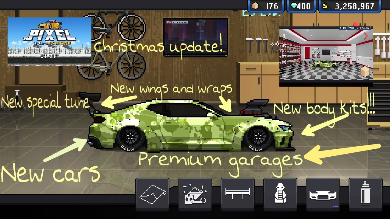 pixel car racer update new everything new 6 second tune free crates