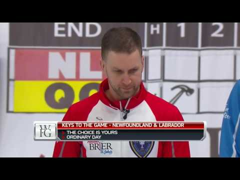 2017 Tim Hortons Brier - Gushue (NL) vs. Menard (QC) - Draw 13