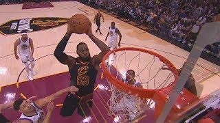 LeBron James Shocks The Entire Cavs Crowd with Self Alley-Oop Dunk! Warriors vs Cavaliers Game 3 Video