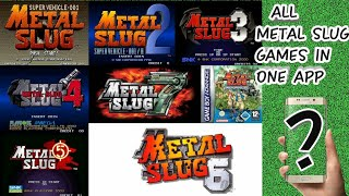 Metal Slug All Series game download free  in your android device very easily (Smooth Gameplay)