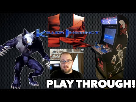 Killer Instinct Arcade Playthrough with Sabrewulf!   Played on a Modded Arcade1Up from Killer Arcade Games