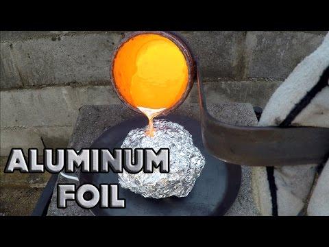 Molten Copper vs Aluminum Foil