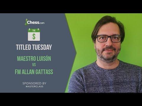 Partida de ajedrez comentada | Luisón vs FM Allan Gattass | Titled Tuesday