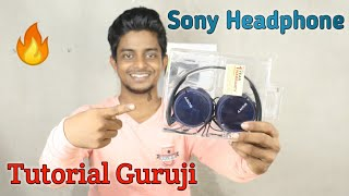 Tutorial guruji Unboxing Sony headphone / Tutorialguruji