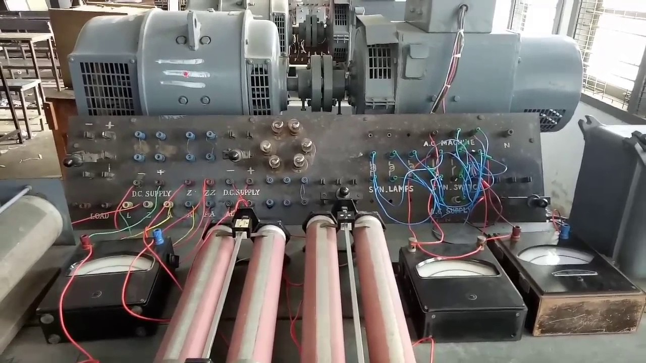Marine Bus Bar Wiring Diagram Dark Lamp Method Of Synchronizing An 3phase Alternator With The Explanation In Tamil