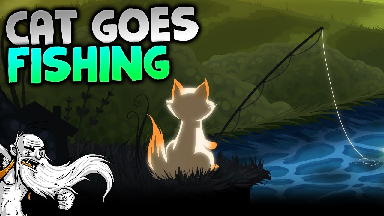 Cat goes fishing gameplay a cat fishing game for Fish cat game