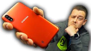 Самый Дешевый Смартфон Samsung за 80 Баксов! Samsung Galaxy A01