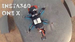 Insta360 one x on Racing Drone