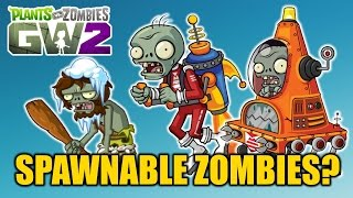 Plants vs Zombies Garden Warfare 2 - Possible Spawnable Zombies Discussion thumbnail