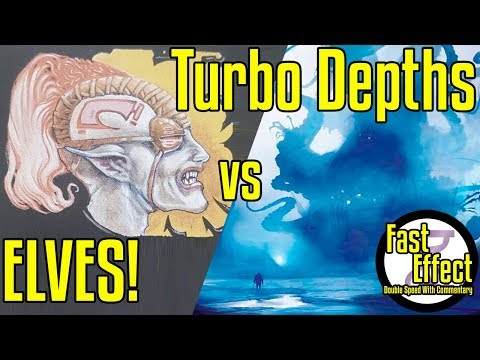 ELVES! VS Turbo Depths | Legacy Magic: The Gathering W/Commentary | Brainstorm MTG | Fast Effect