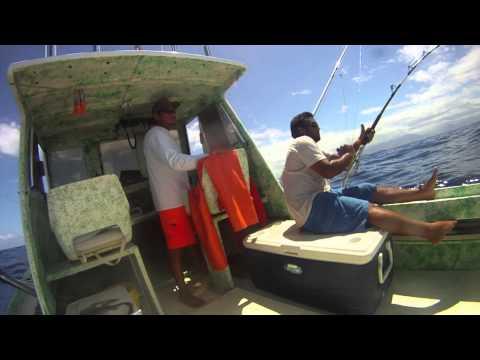 Ahi Fishing Waianae Hawaii 7-11-13