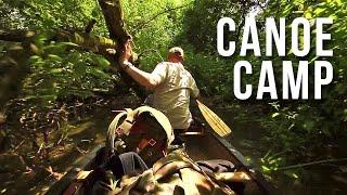 river island canoe camping in hammocks