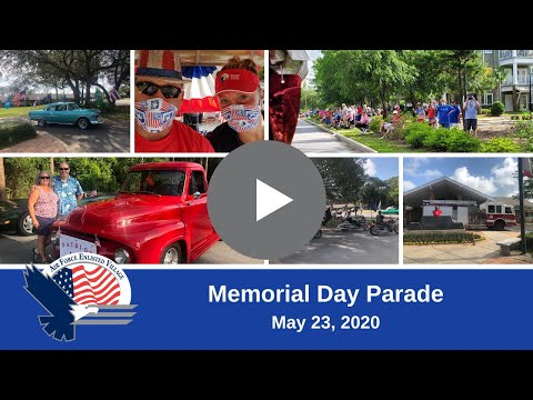 Memorial Day Parade For Bob Hope Village And Hawthorn House Residents