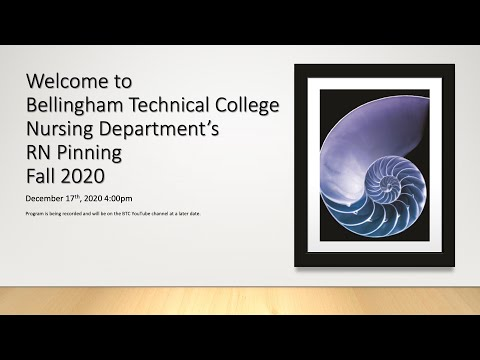 Fall 2020 Bellingham Technical College RN pinning