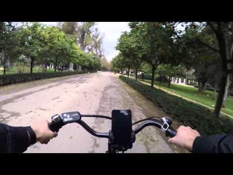 Cycling in Sevilla: Plaza de Espana _ Parque de Maria Luisa