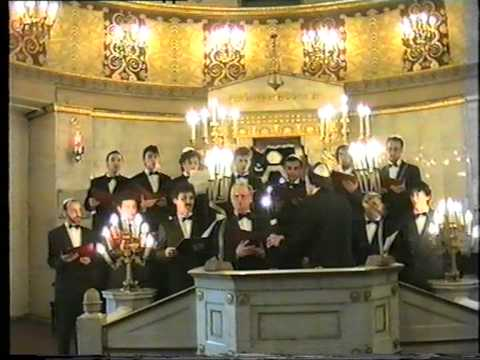The Moscow Male Jewish Cappella, A. Tsaliuk, Demo Video, Moscow Grand Choral Synagogue, 1994