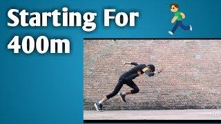 Athlete Block Starting    400m
